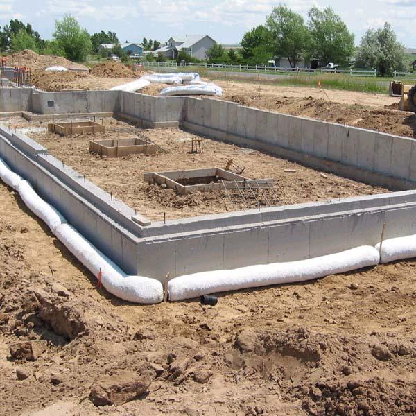 foundation drains. Black Bedroom Furniture Sets. Home Design Ideas